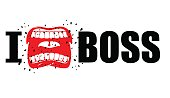 I hate boss. shout symbol of hatred and antipathy.