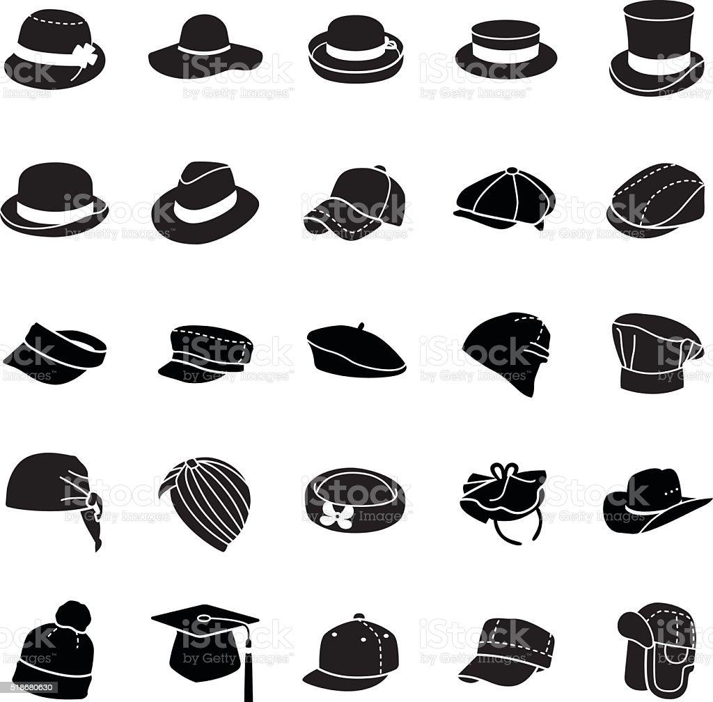Hats vector icons vector art illustration