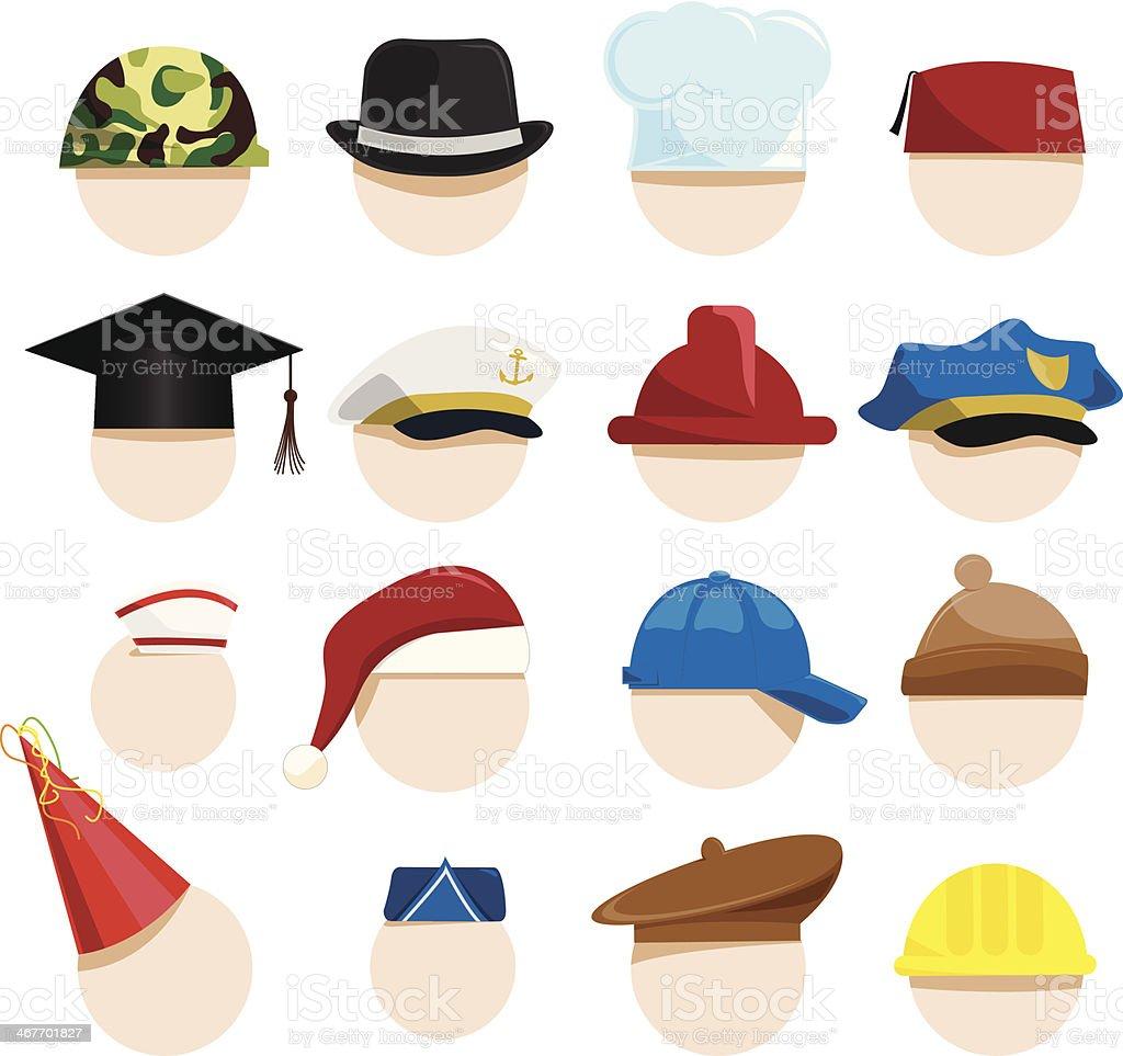 hats vector art illustration