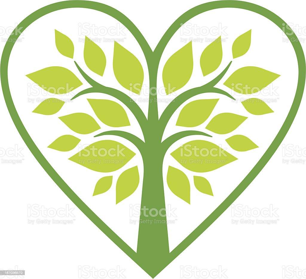 Hature heart royalty-free stock vector art