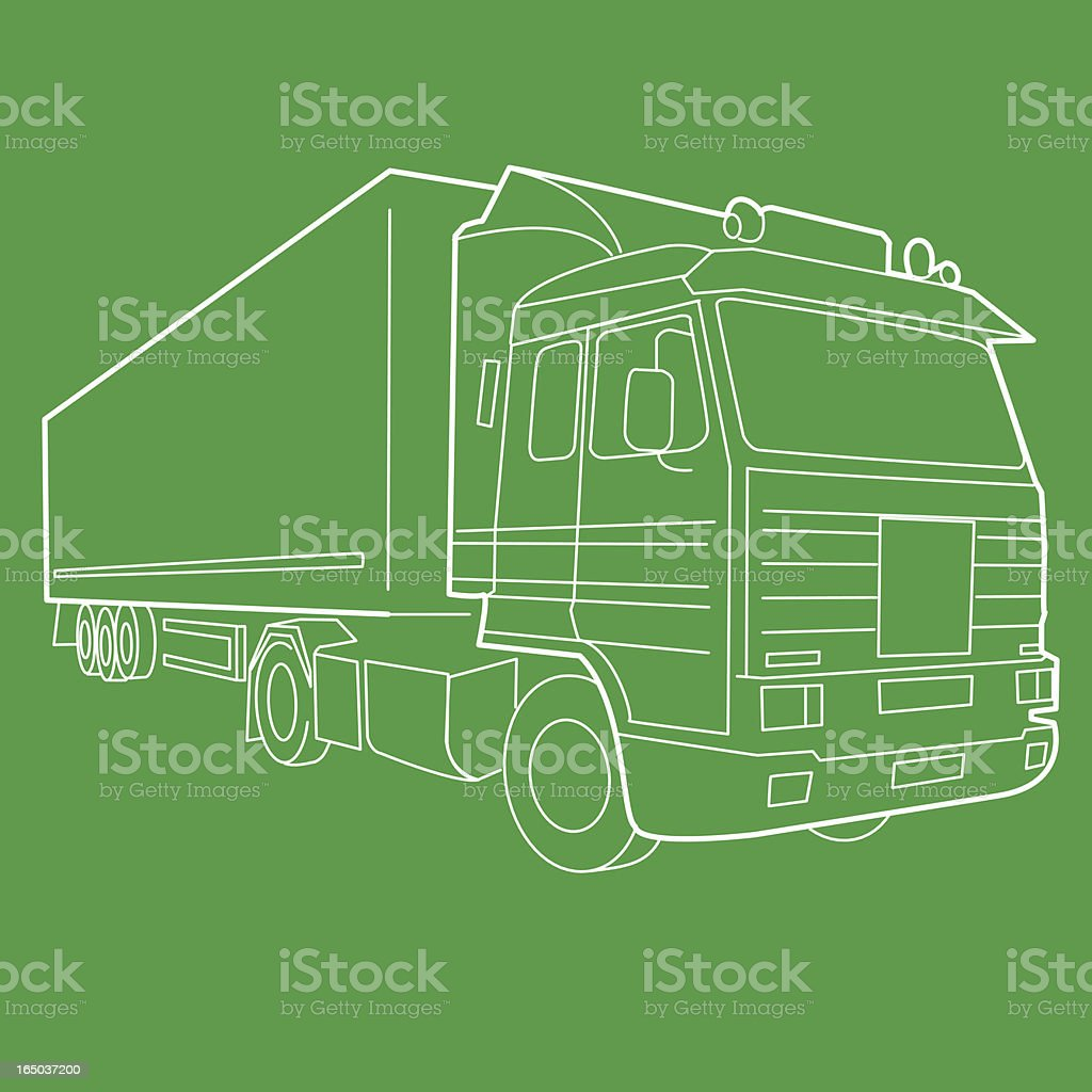 Haulage Truck (Vector) royalty-free stock vector art