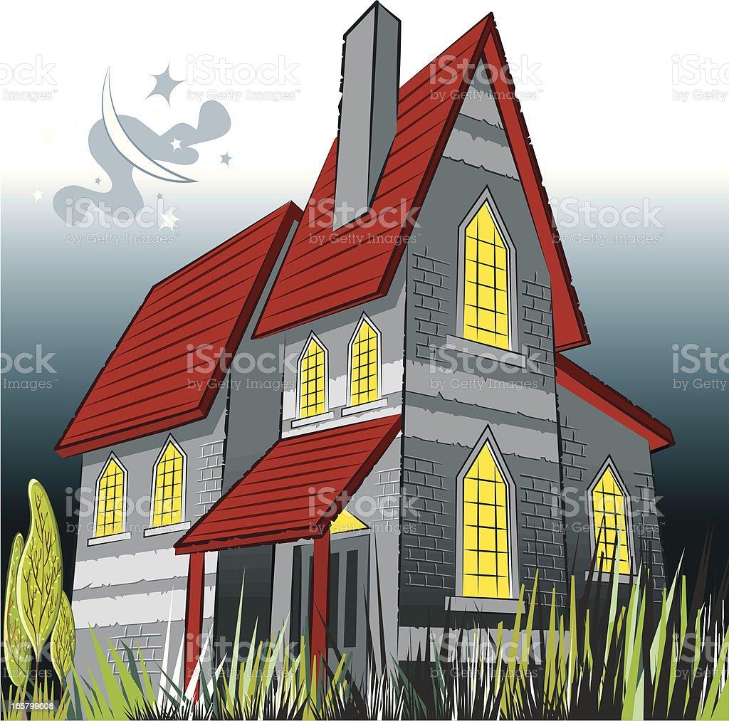 haunted house and creepy night royalty-free stock vector art