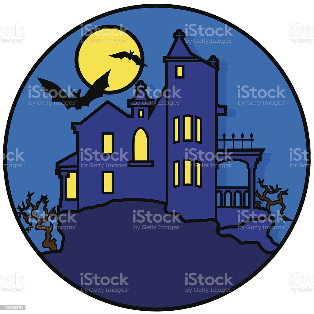 haunted house icon royalty-free stock vector art