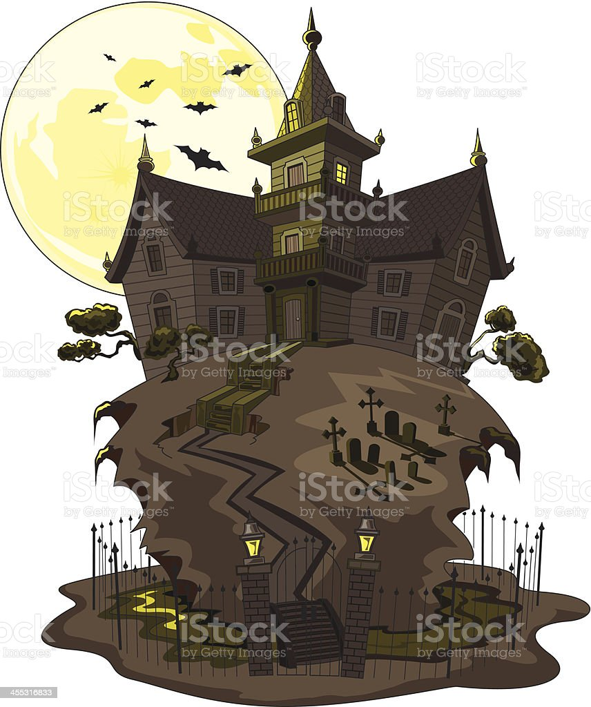 Haunted Mansion royalty-free stock vector art
