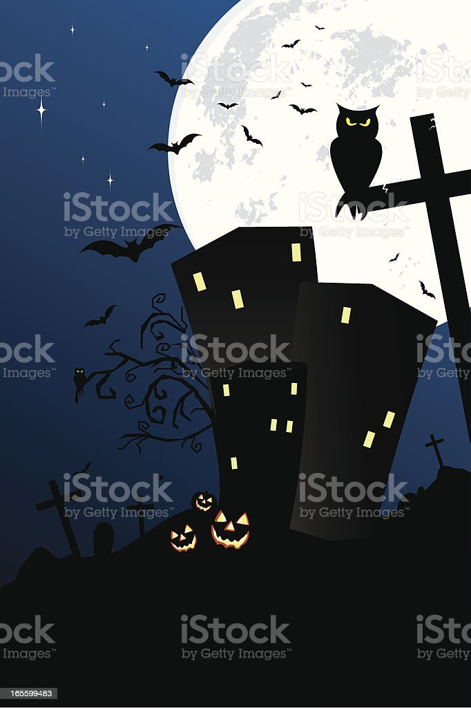 Haunted Town royalty-free stock vector art