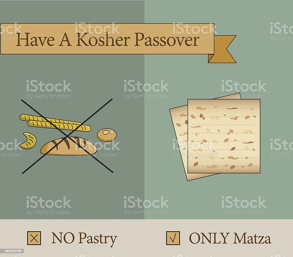 have a kosher passover holiday royalty-free stock vector art