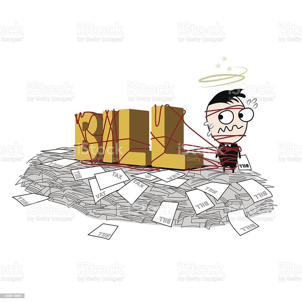 Have a lot of Bills is mountain hight vector art illustration