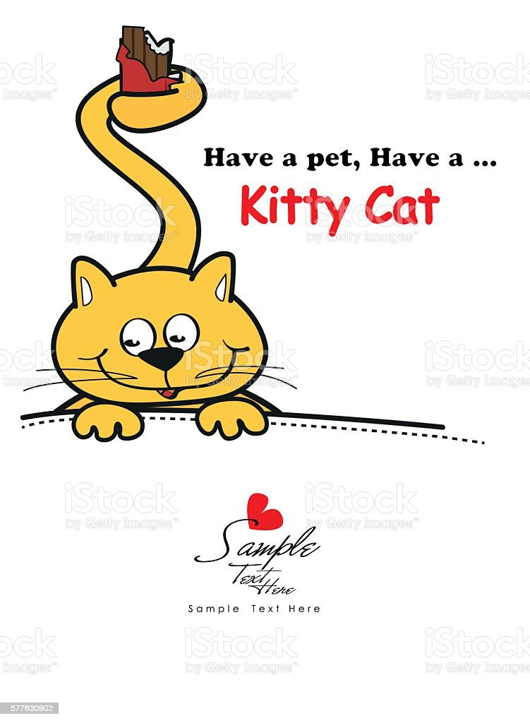 Have a pet, have a kitty Cat vector design vector art illustration