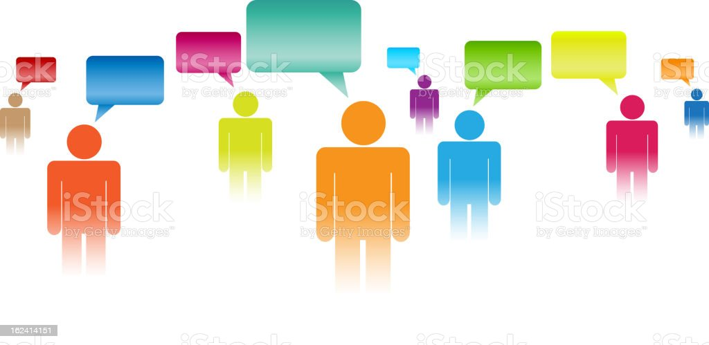 Have Your Say royalty-free stock vector art