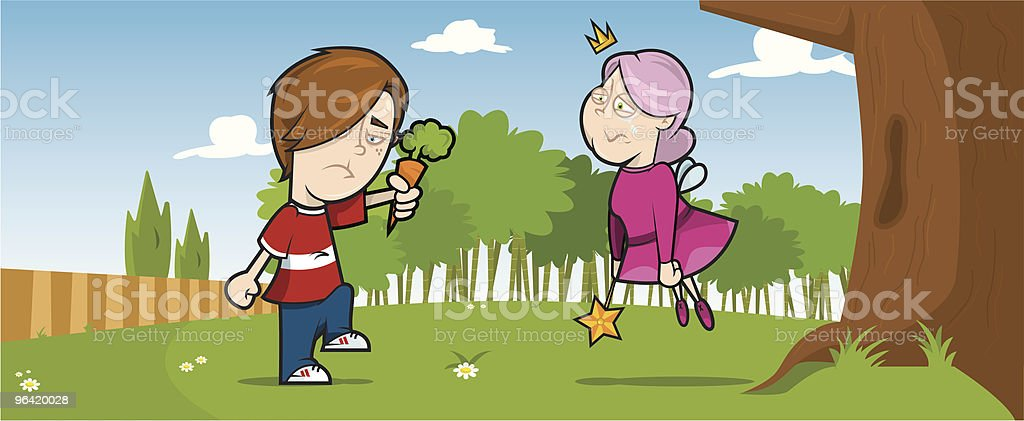 Having a fairy good time! royalty-free stock vector art