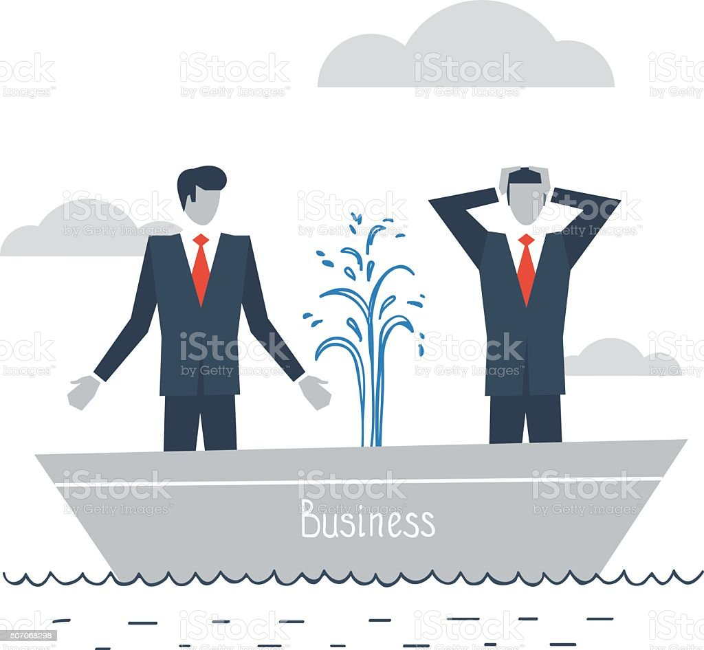 Having difficulties in business vector art illustration