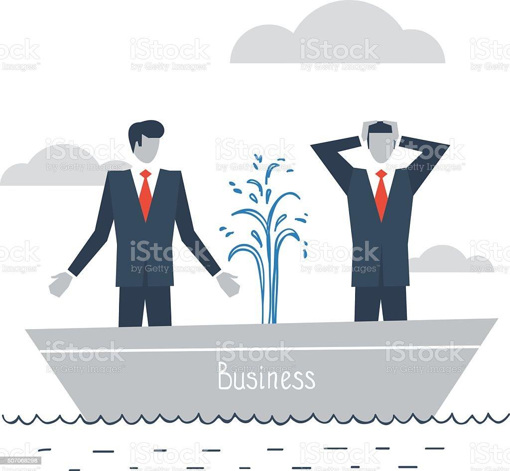 Having difficulties in business vector art illustration