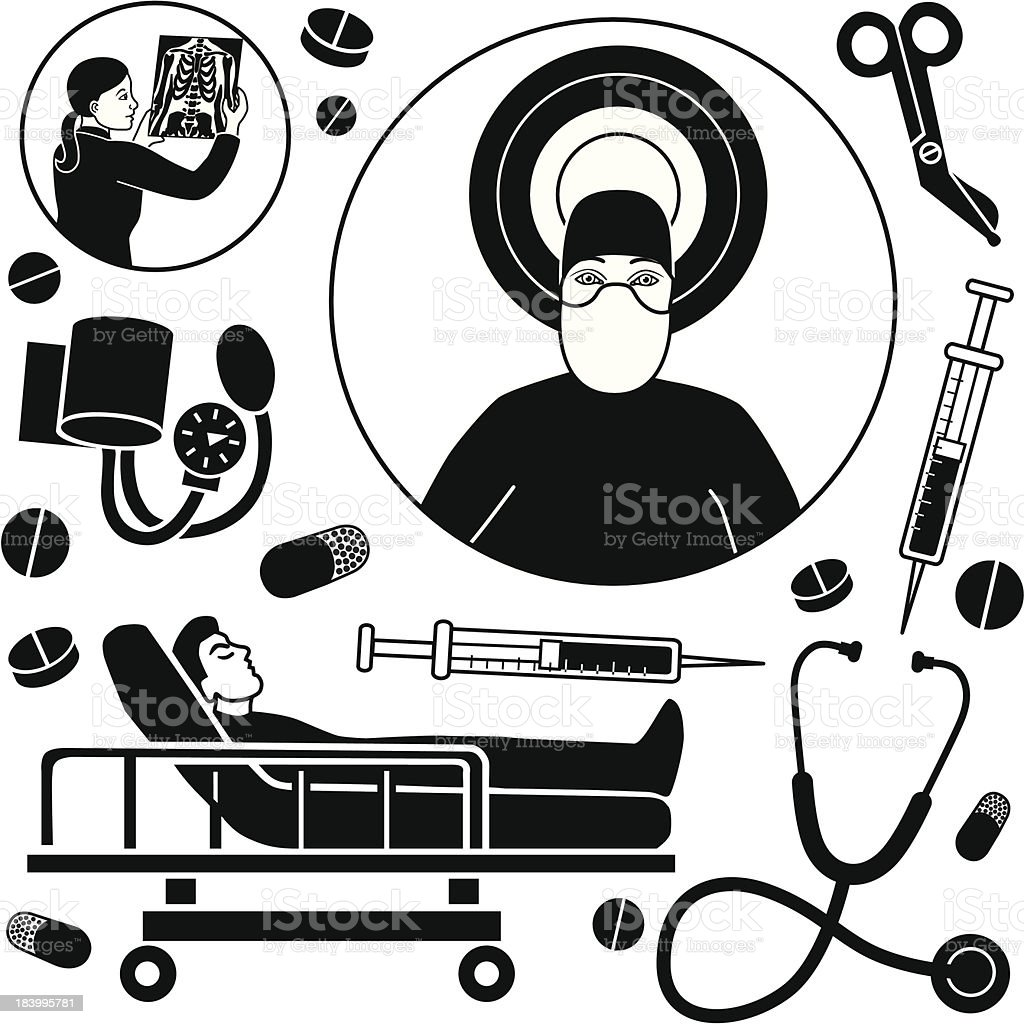 having surgery royalty-free stock vector art