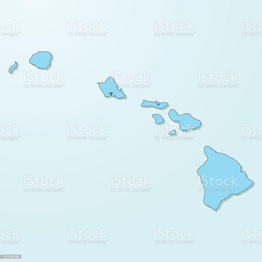 Hawaii blue map on degraded background vector vector art illustration