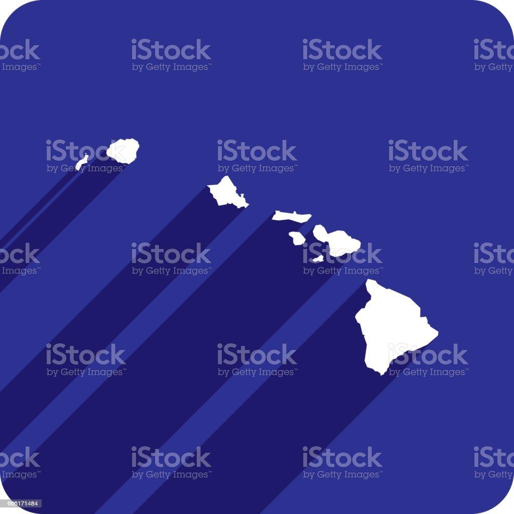 Hawaii Icon Silhouette vector art illustration
