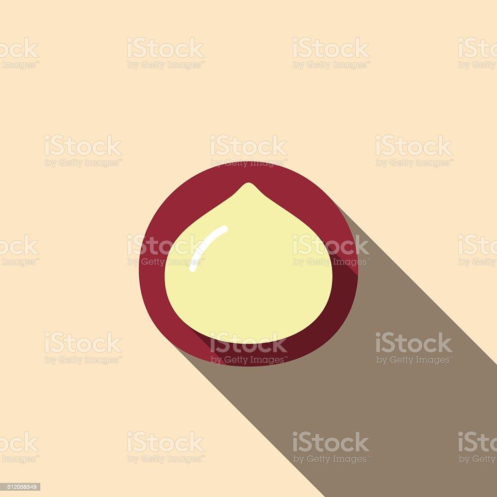 Hawaii nut food and drink flat icon series vector art illustration