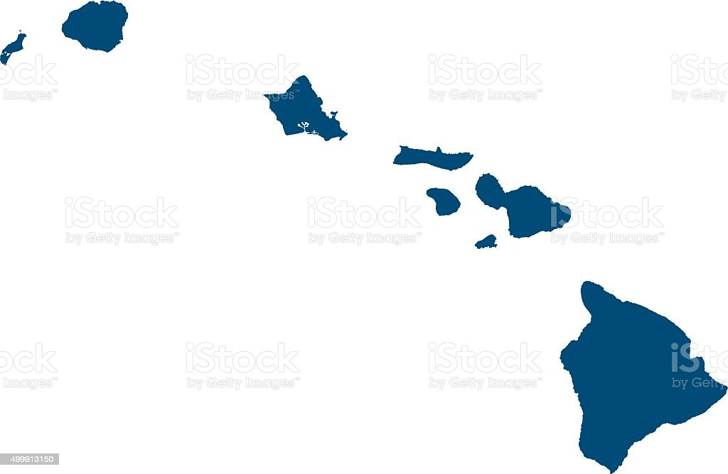 Hawaii outlines vector art illustration