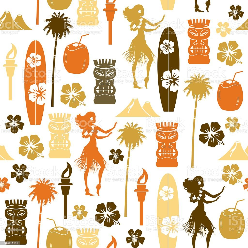 Hawaii Repeat Pattern vector art illustration