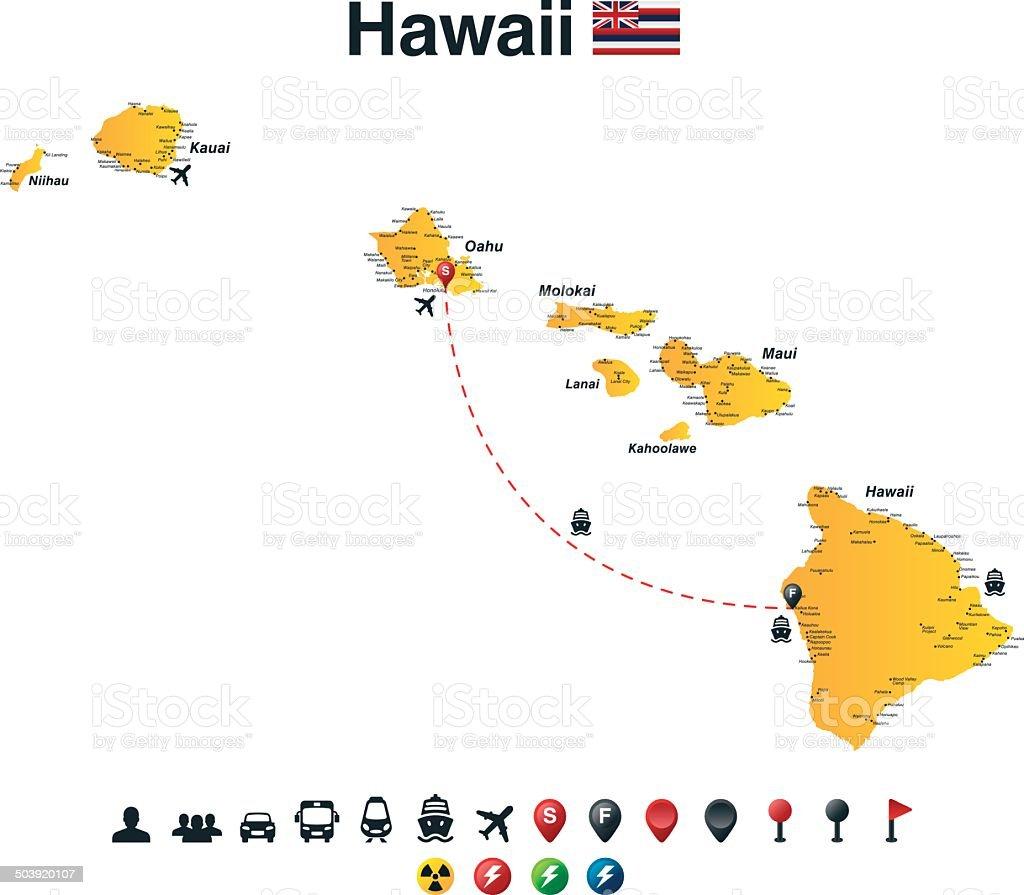 Hawaii vector art illustration