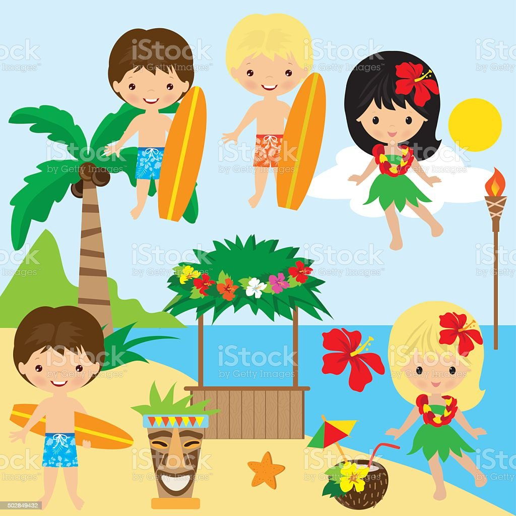Hawaii vector illustration vector art illustration