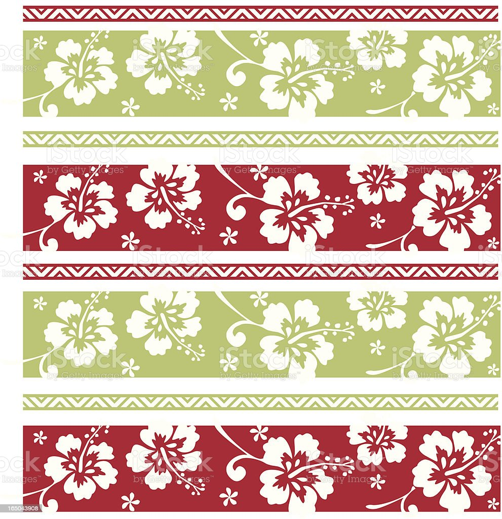 Hawaiian Christmas Pattern royalty-free stock vector art