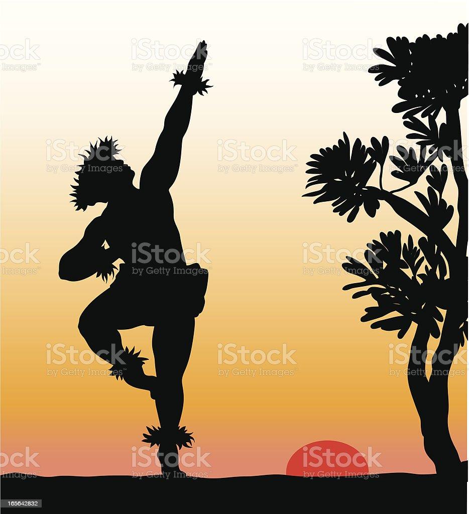 Hawaiian Dancer Vector Silhouette royalty-free stock vector art