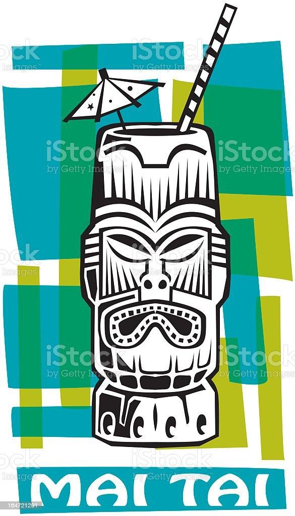 Hawaiian Drink vector art illustration