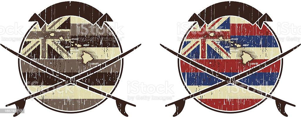 hawaiian flag surfing royalty-free stock vector art