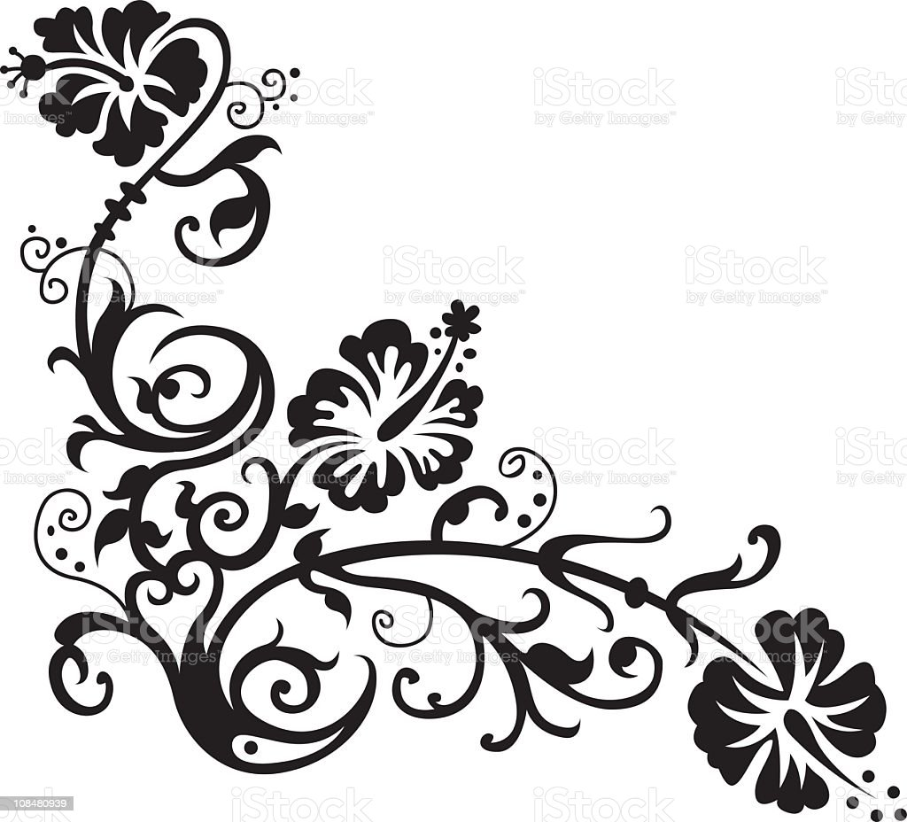 Hawaiian flower design royalty-free stock vector art