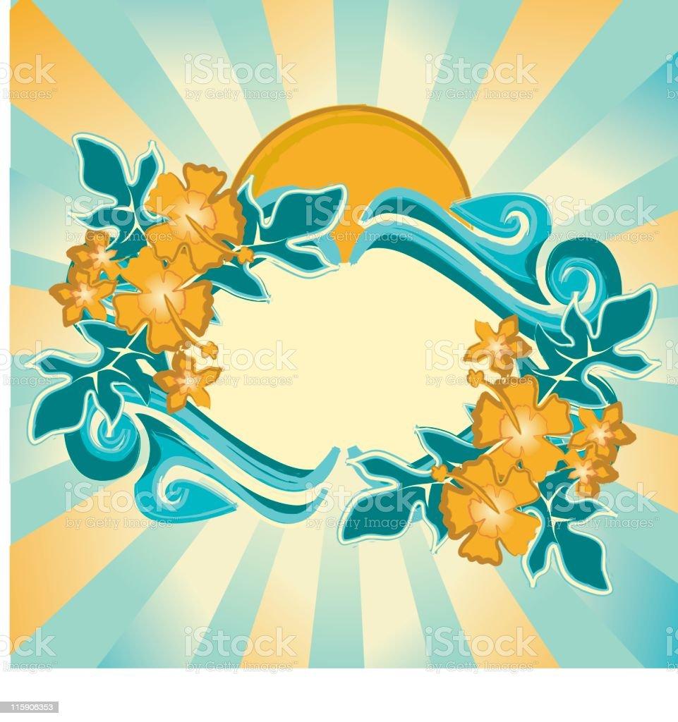 Hawaiian Frame royalty-free stock vector art