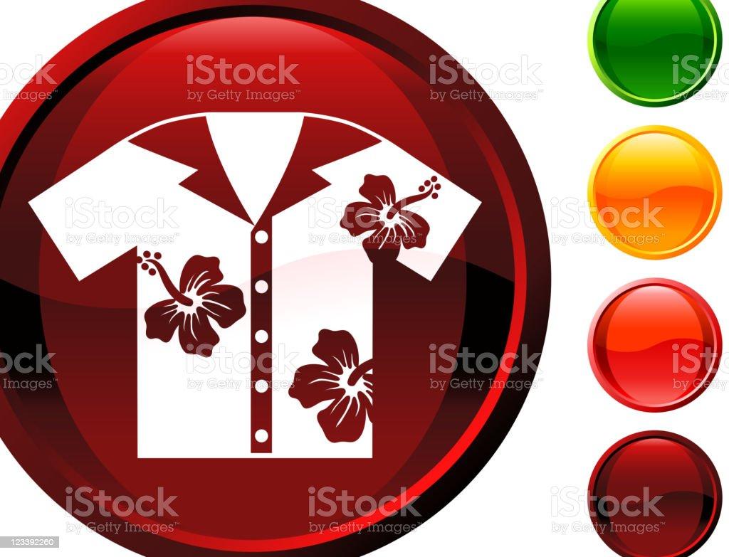 Hawaiian shirt internet royalty free vector art royalty-free stock vector art