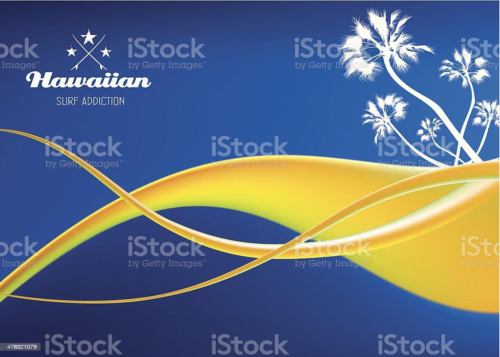 hawaiian surf addiction background royalty-free stock vector art