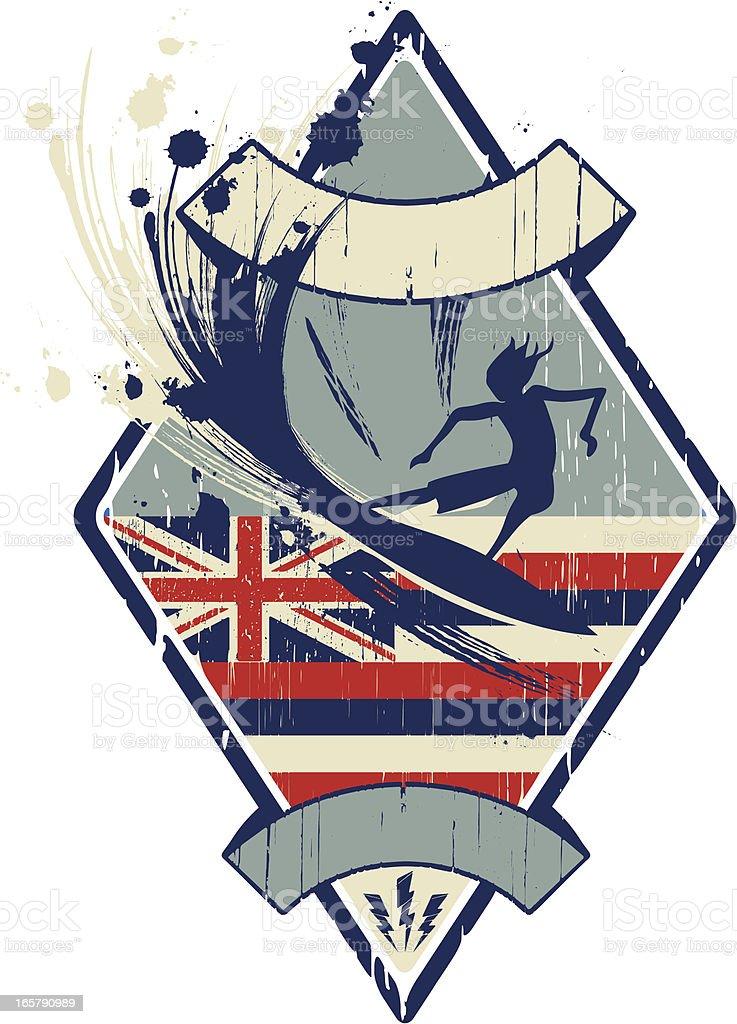 hawaiian surf royalty-free stock vector art