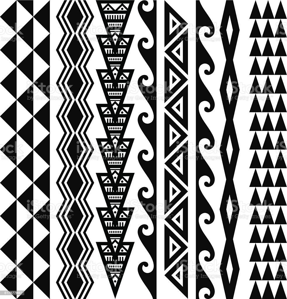 Hawaiian Tribal Patterns vector art illustration
