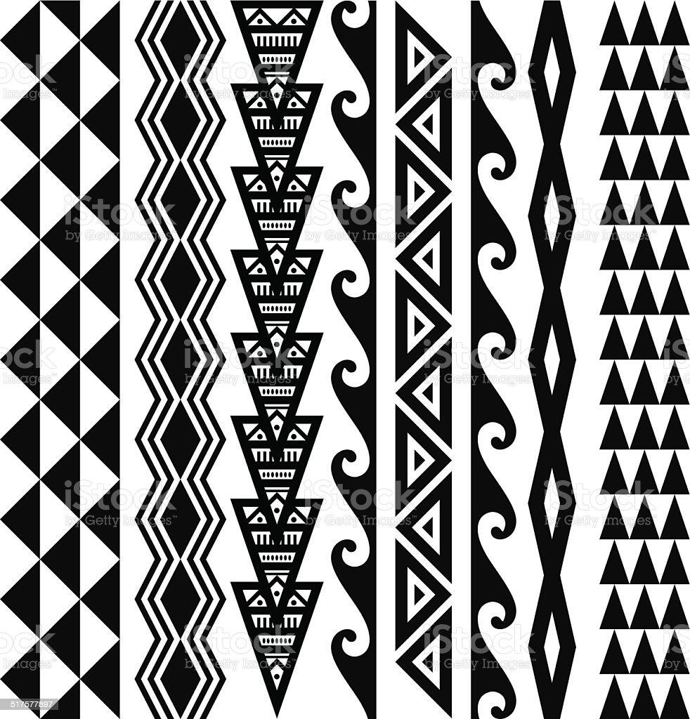 Hawaiian Tribal Patterns vector art illustration