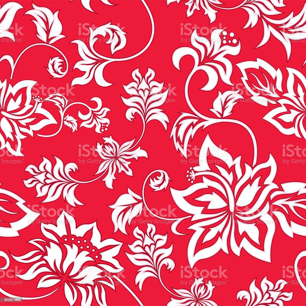 Hawaiian Wallpaper (Seamless) vector art illustration