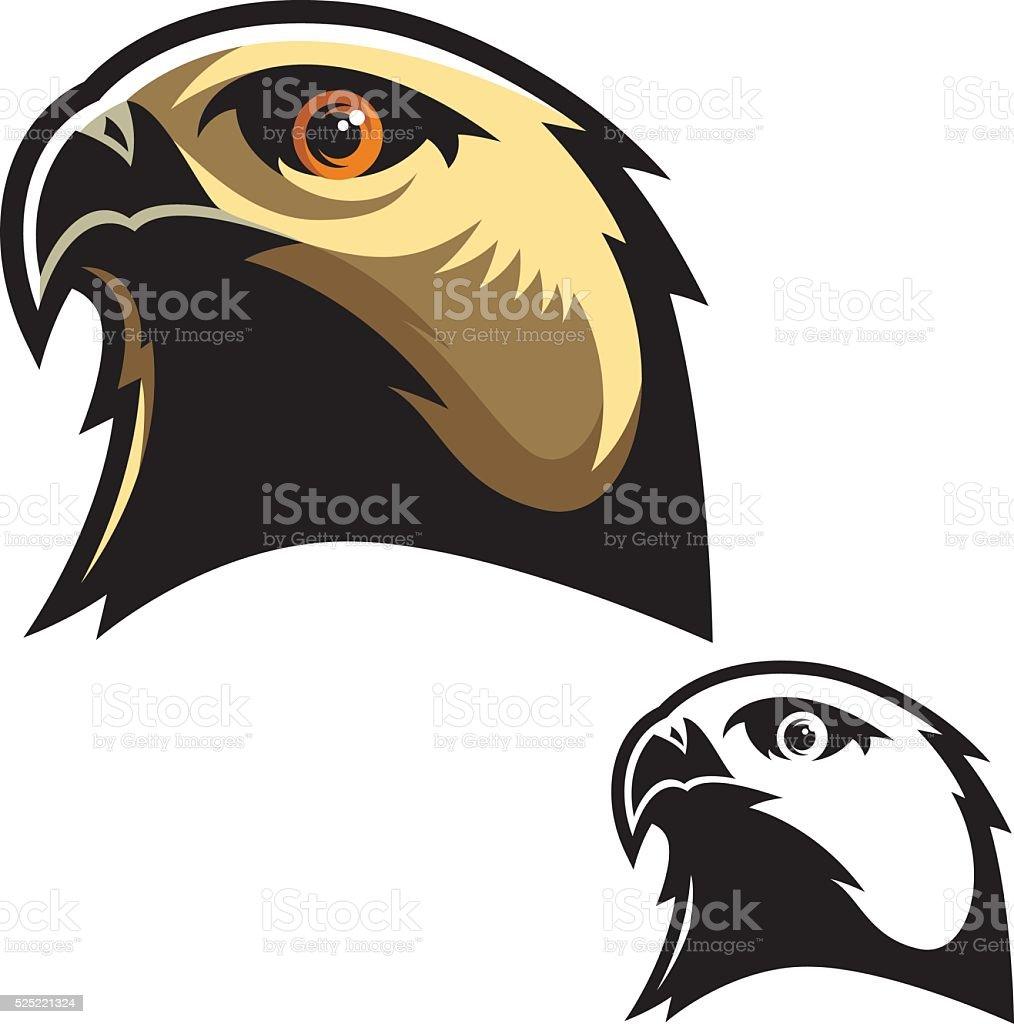 Hawk Head Mascot vector art illustration