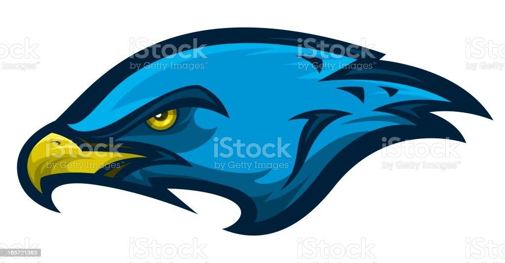 Hawk Head royalty-free stock vector art