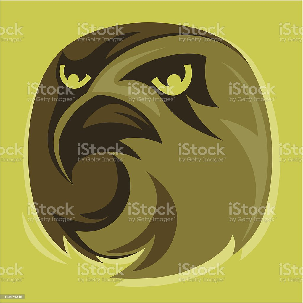 hawk mascot royalty-free stock vector art
