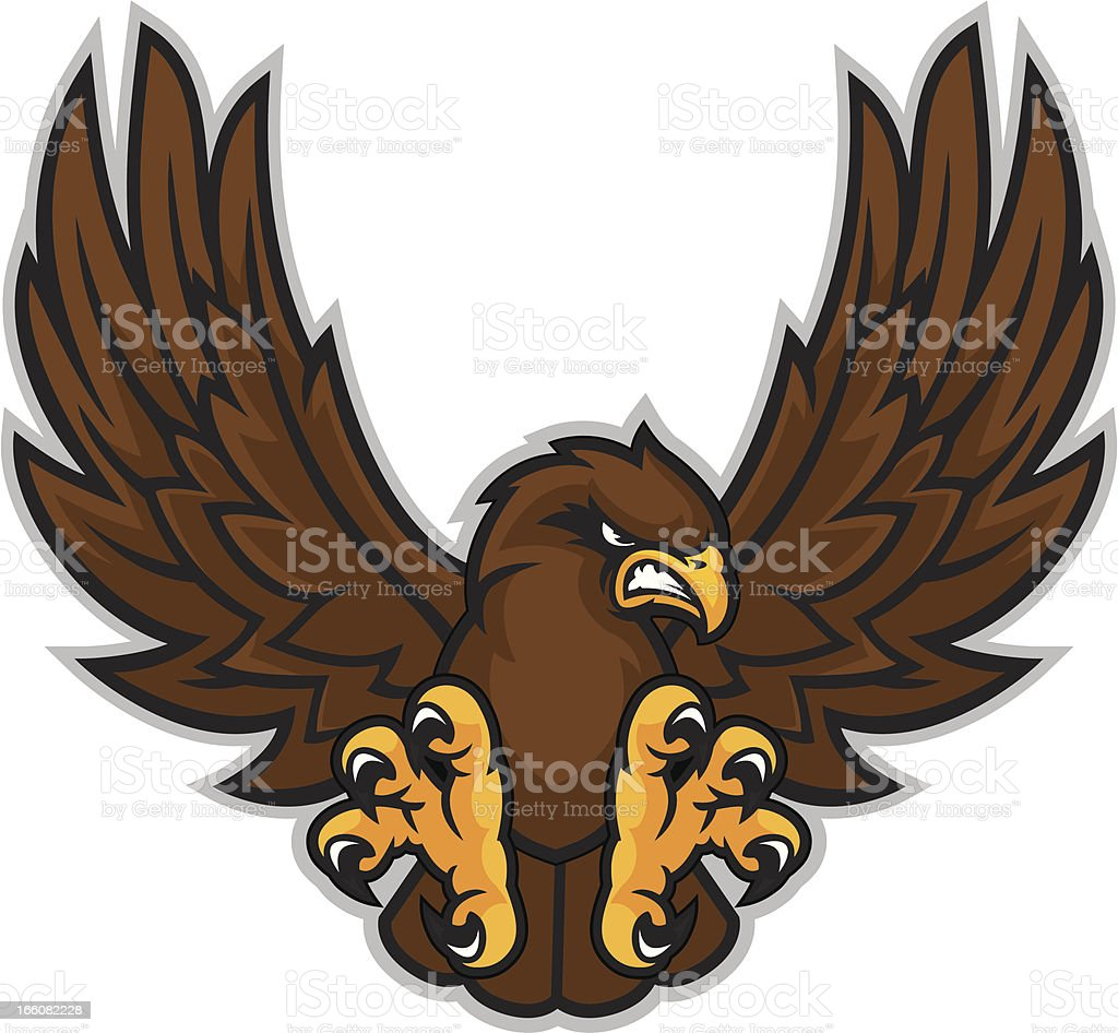 Hawk Mascot royalty-free stock vector art