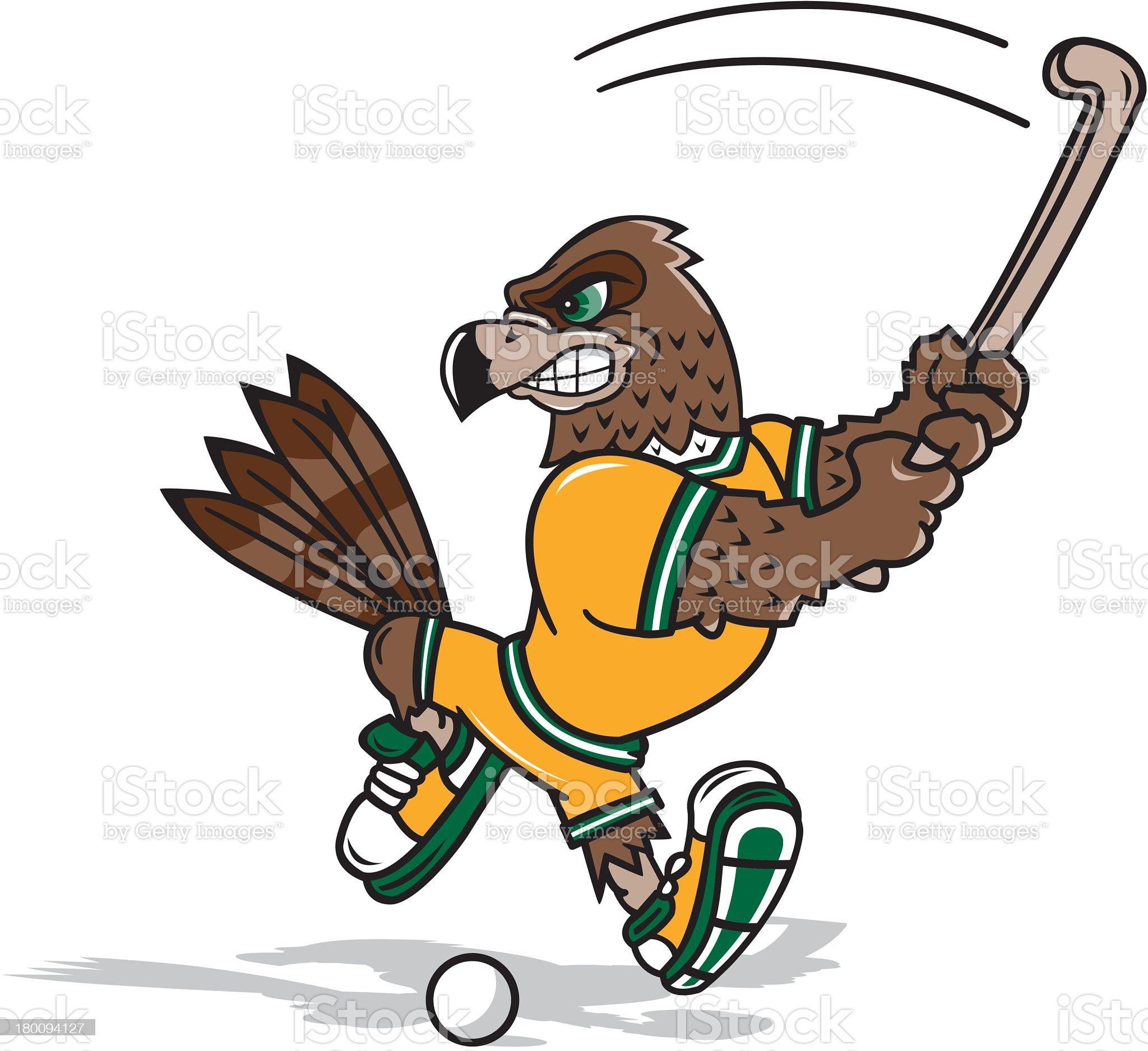 Hawk Playing Field Hockey royalty-free stock vector art