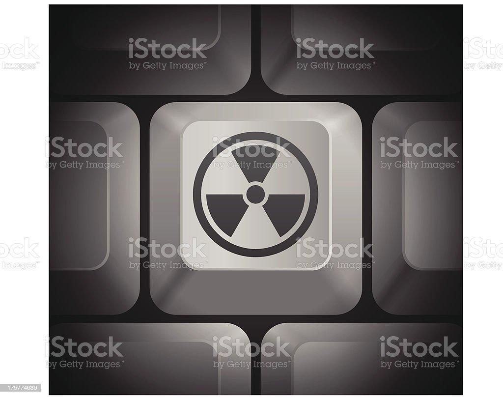 Hazard Icon on Computer Keyboard royalty-free stock vector art