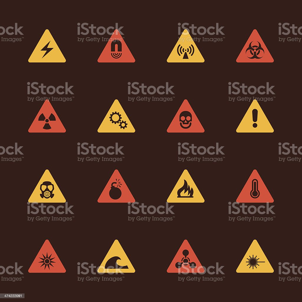 Hazard Icons - Color Series royalty-free stock vector art