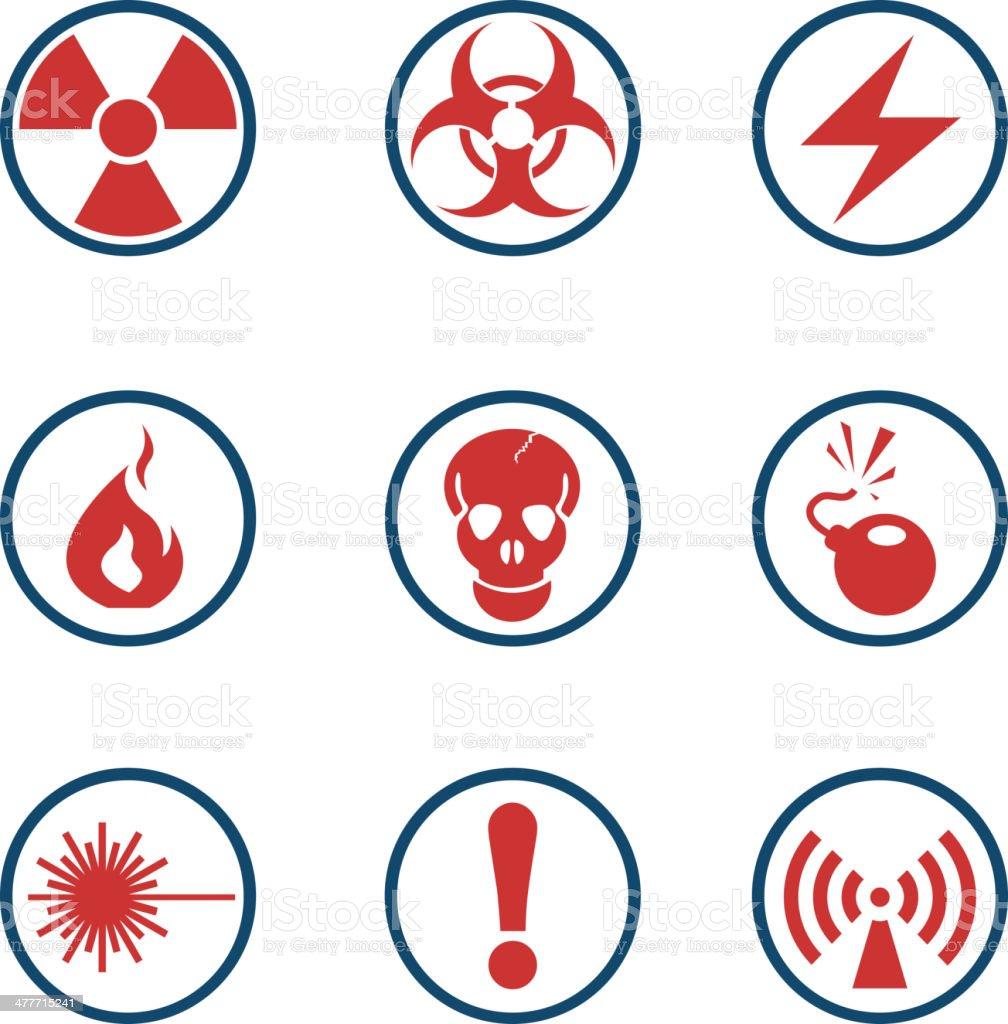 Hazard Sign Icons royalty-free stock vector art