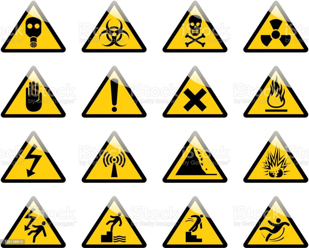 hazard sign stock photo