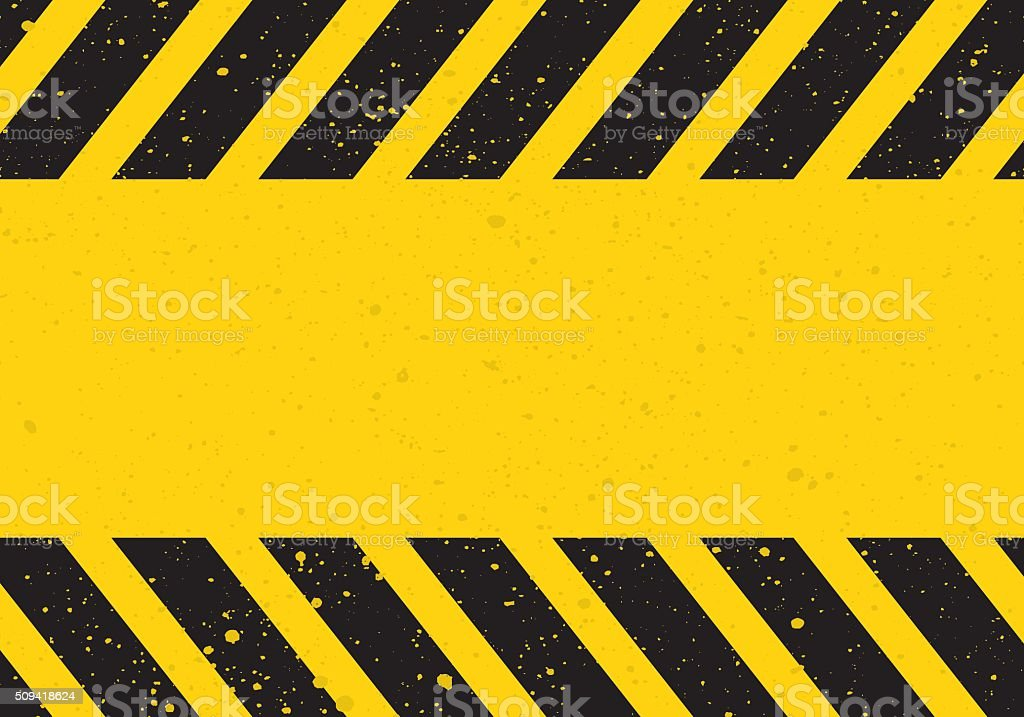 hazard sign with stripes vector art illustration
