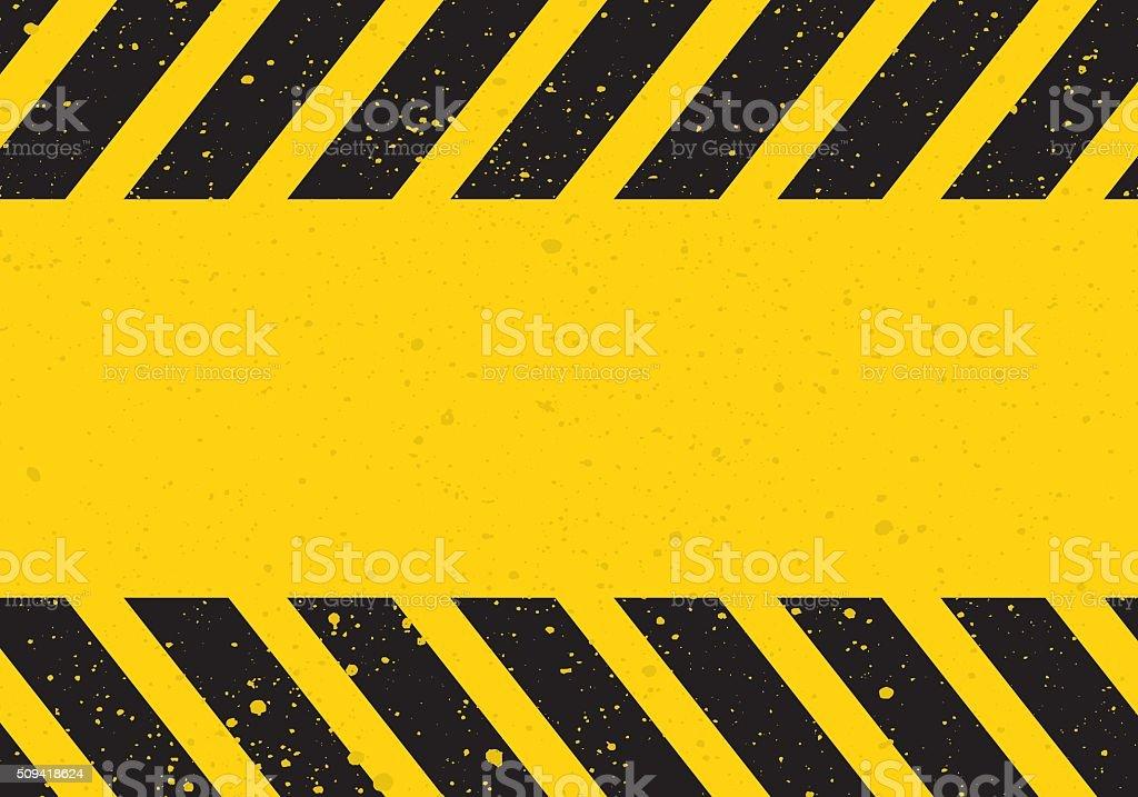 hazard sign with stripes vector art illustration