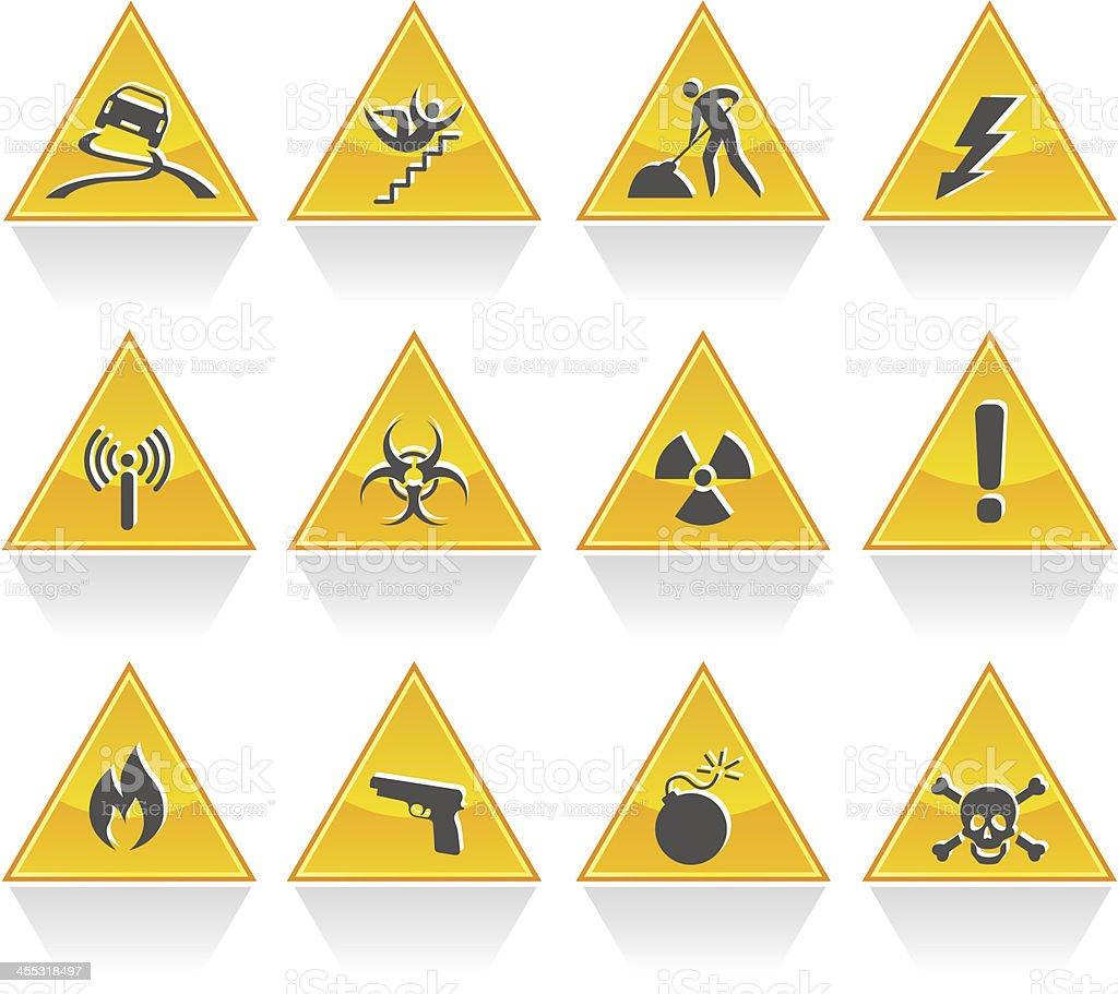 Hazard signs royalty-free stock vector art