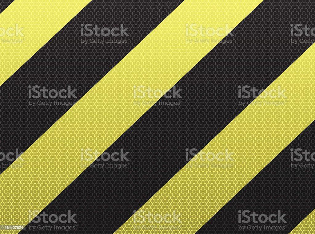 Hazard stripes sign royalty-free stock vector art