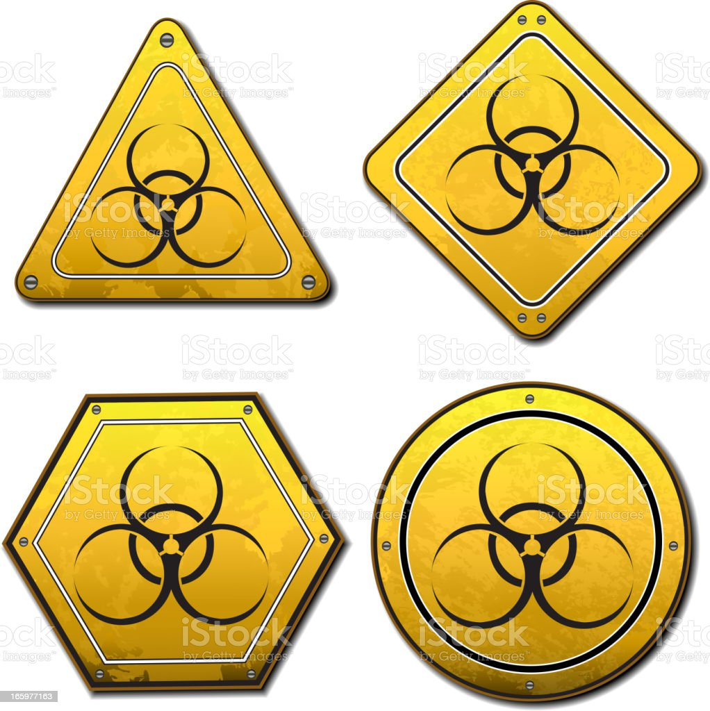 Hazard symbol royalty-free stock vector art